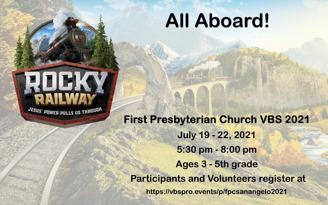 Vacation Bible School July 19th – 22nd